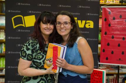 Com Marian em evento de lançamento em 2016